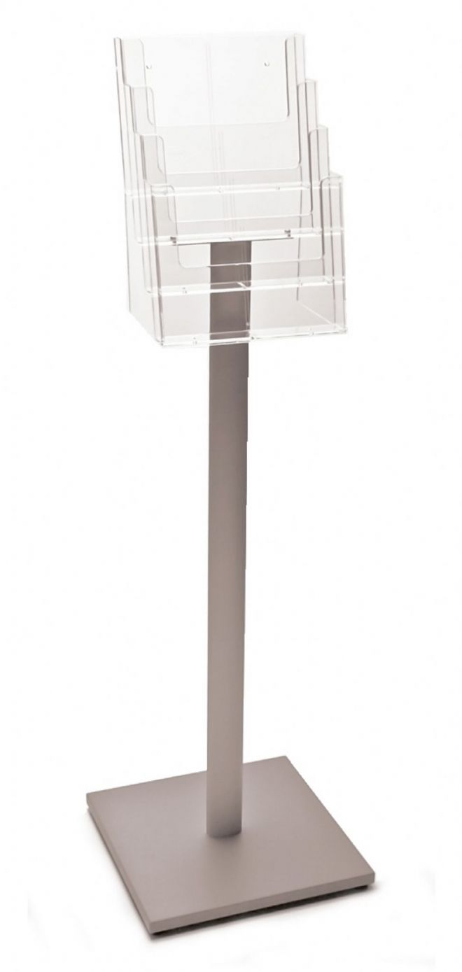 4 Pocket A4 Luxury Floor Stand